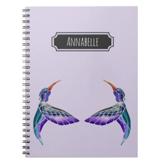 Hummingbird Abstract Watercolor Notebooks