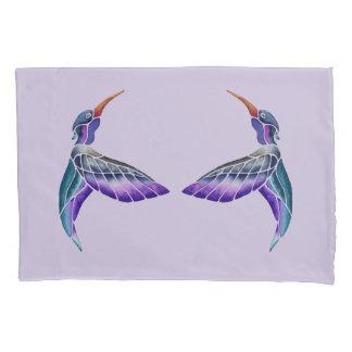 Hummingbird Abstract Watercolor Pillowcase