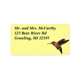Hummingbird Address Avery Label