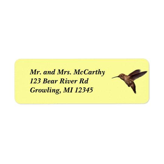 Hummingbird Address Avery Label Return Address Label