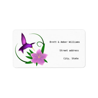 'Hummingbird' address labels
