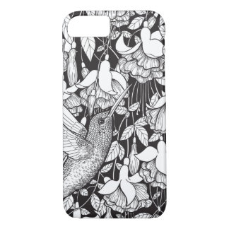 Hummingbird and fuchsia iPhone 8/7 case