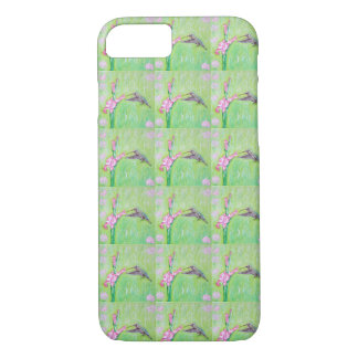 Hummingbird and Gladioli iPhone 8/7 Case