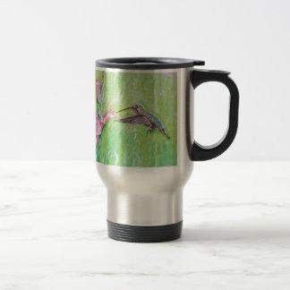 Hummingbird and Gladioli Travel Mug