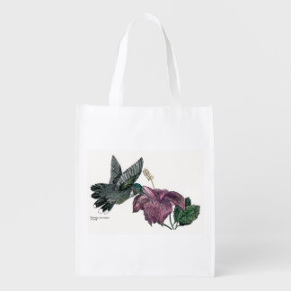 Hummingbird and Hibiscus Reusable Bag