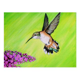 Hummingbird and Lilac Postcard