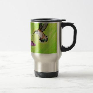 Hummingbird and Lilac Travel Mug