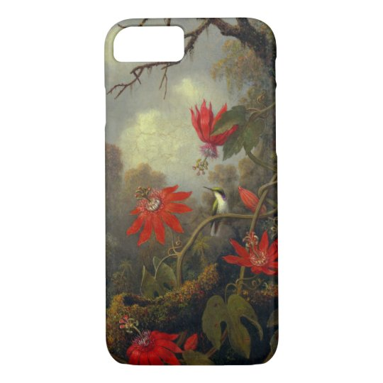 Hummingbird and Passionflowers 1877 iPhone 7 Case