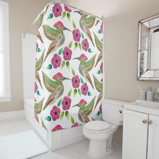Hummingbird and Petunia Abstract Painting Pattern
