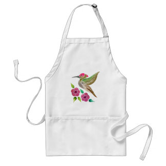 Hummingbird and Petunia Abstract Painting Standard Apron