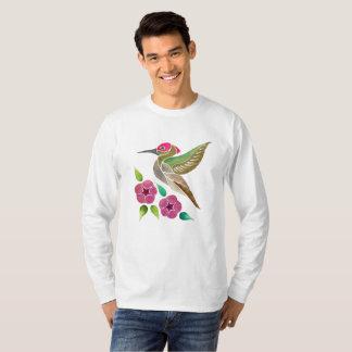 Hummingbird and Petunia Abstract Painting T-Shirt