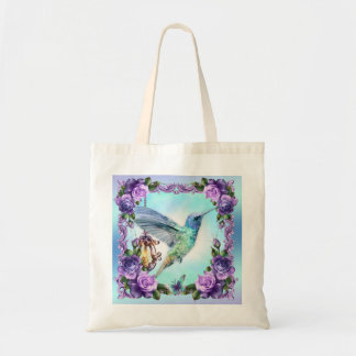 Hummingbird And Rose Budget Tote
