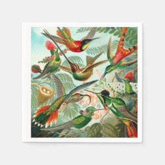 Hummingbird Antique Print Disposable Napkins