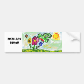 hummingbird art  two bumper sticker