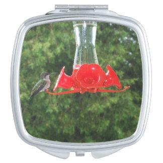 Hummingbird at Feeder Compact Mirror