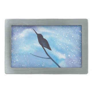 Hummingbird At Night Belt Buckle