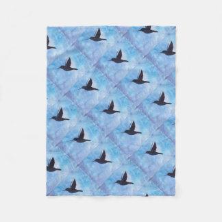Hummingbird At Night Fleece Blanket
