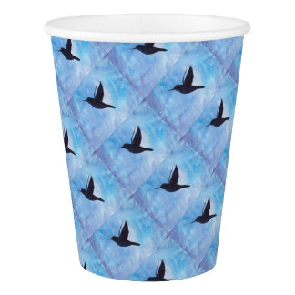 Hummingbird At Night Paper Cup