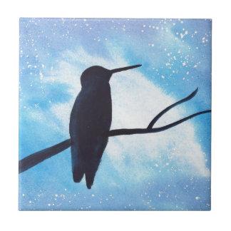 Hummingbird At Night Tile