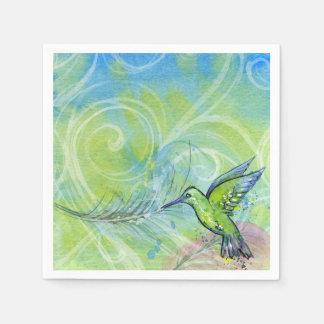 Hummingbird Beautiful Illustration Paper Napkins