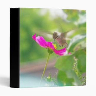 Hummingbird Bird Animal Wildlife Floral 3 Ring Binders