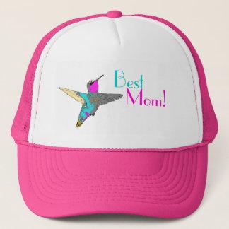 hummingbird Bird Animal Wildlife Floral Trucker Hat