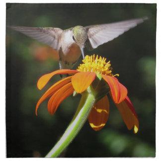 Hummingbird Bird Floral Animal Wildlife Flower Printed Napkins
