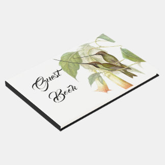 Hummingbird Bird Flower Wildlife Animal Guest Book