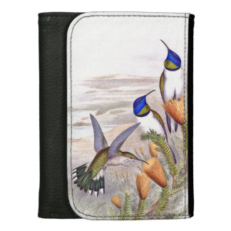 Hummingbird Bird Flowers Floral Wildlife Animals Wallets
