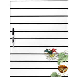 Hummingbird Bird Flowers Planner Dry Erase Board