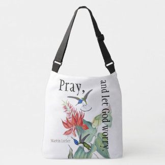 Hummingbird Bird Flowers Pray Shoulder Bag Tote