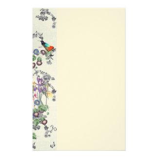 Hummingbird Bird Flowers Stationery