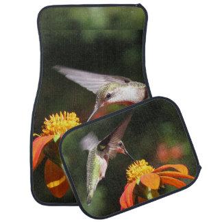 Hummingbird Bird Sunflower Flower Floral Garden Car Carpet