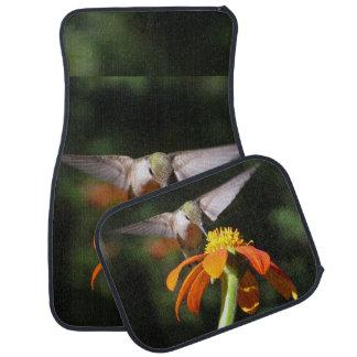 Hummingbird Bird Sunflower Flower Floral Garden Car Floor Carpet