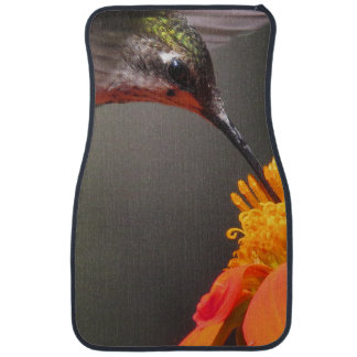 Hummingbird Bird Sunflower Flower Floral Garden Floor Mat