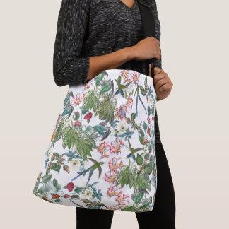 Hummingbird Bird Tropical Flower Shoulder Tote Bag