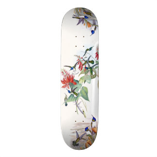 Hummingbird Bird Wildlife Animal Floral Skateboard
