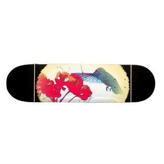 Hummingbird Bird Wildlife Animal Floral Skateboard Deck
