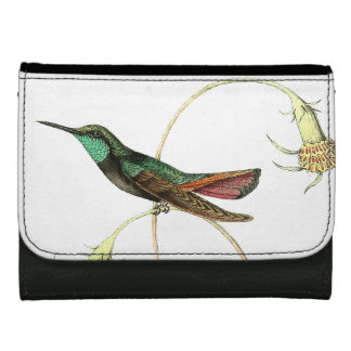 Hummingbird Bird Wildlife Animals Floral Wallet