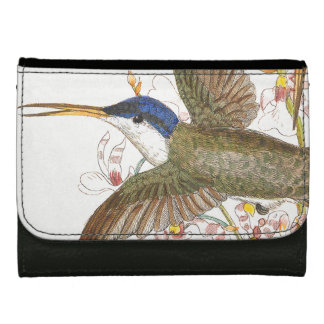 Hummingbird Bird Wildlife Animals Flowers Wallet