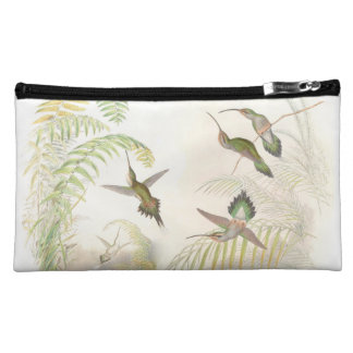 Hummingbird Bird Wildlife Animals Leaves Cosmetic Bag