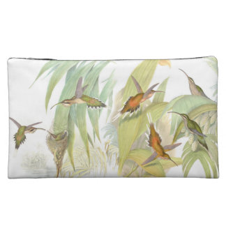 Hummingbird Bird Wildlife Animals Leaves Makeup Bags