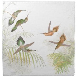 Hummingbird Bird Wildlife Animals Leaves Napkin