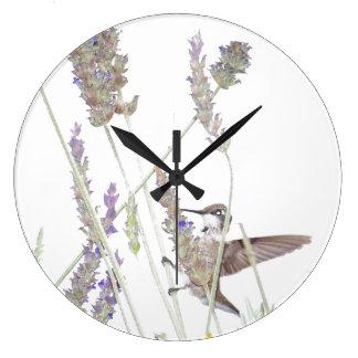 Hummingbird Bird Wildlife Floral Flowers Wallclock