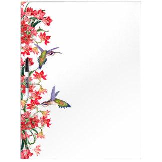 Hummingbird Birds & Amarylis Flowers Floral Board