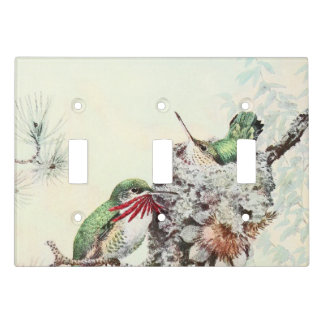 Hummingbird Birds Animal Floral Light Switch Cover