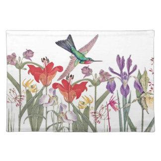 Hummingbird Birds Animal Flower Garden Placemat
