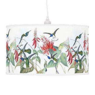 Hummingbird Birds Animal Wildlife Hanging Lamp