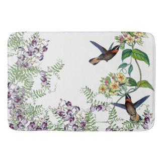 Hummingbird Birds Animals Flowers Bath Mat
