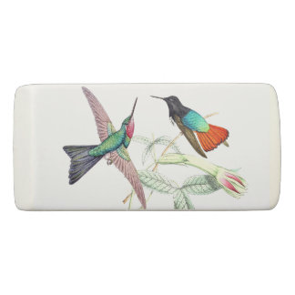 Hummingbird Birds Animals Flowers Garden Eraser